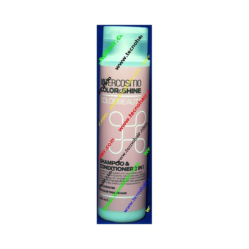 Intercosmo color shine color beauty shampoo & conditioner 2 in 1 300 ml