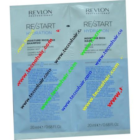 Restart hydration duo shampoo + maschera monodose 20 ml